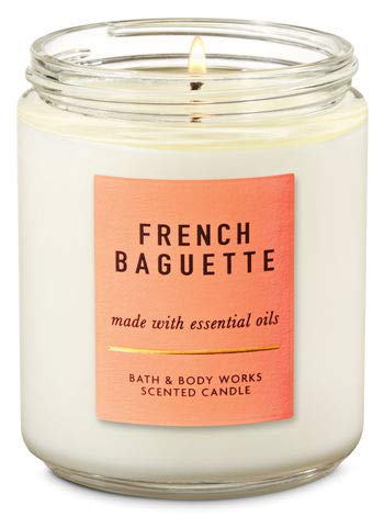 (Bath and Body Works White Barn French Baguette 7 Ounce Candle Single Wick Fresh Bread )