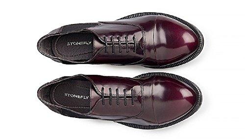 Stonefly , Chaussures de ville à lacets pour femme Violet Wine