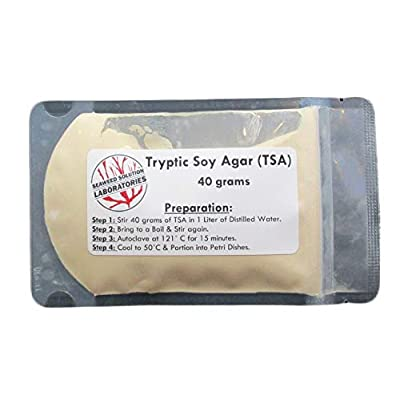 Trypticase (Tryptic) Soy Agar (TSA) - 40 Grams Dehydrated: Toys & Games