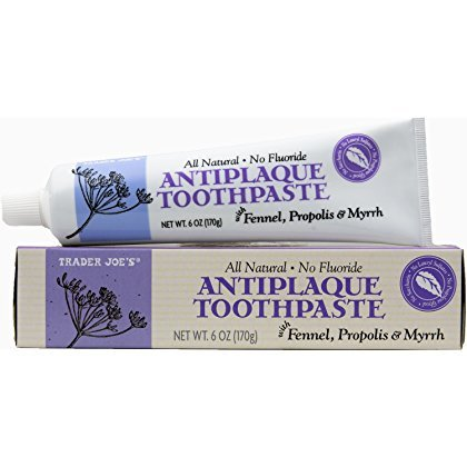 (Trader Joe's Natural Antiplaque Toothpaste with Fennel, Propolis and Myrrh - No Flouride)