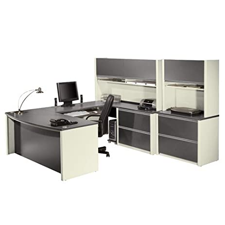 Bestar Office Furniture Connexion Collection Executive Office Group,  Slate/Sandstone