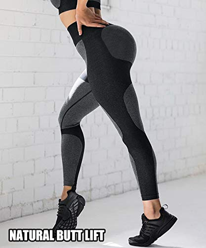 Jenbou Seamless Leggings for Women Workout Yoga Pants Butt Lifting High Waisted Tummy Control Compression Tights
