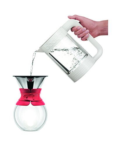 Bodum 11571-294 Pour Over Coffee Maker with Permanent Filter, 34 oz, Red New eBay