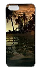3D islands and tree PC Transparent funny iphone 5 case for Apple iPhone 5/5S