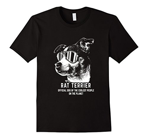 Men's Rat Terrier Shirt Official Dog of the Coolest People 2XL Black