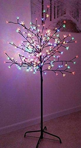 Pre-Lit with 150 Multi LED Cherry Blossom Tree Christmas xmas Tree Suitable for indoor//outdoor garden mile/® New 5ft 1.5m