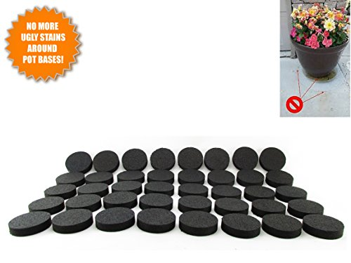 LIFT MY POT Flower Pot Feet, Invisible Flower Pot Risers, Rubber Risers for Plant Pots - 20 or 8 Pc (40) - Toes Pot