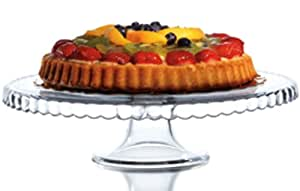 "12"" Clear Glass Pedestal Cake Stand"