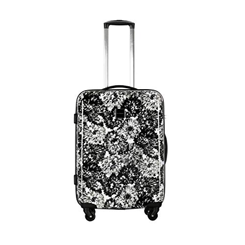 Isaac Mizrahi Boldon 26' Hardside Checked Spinner Luggage (Black White)