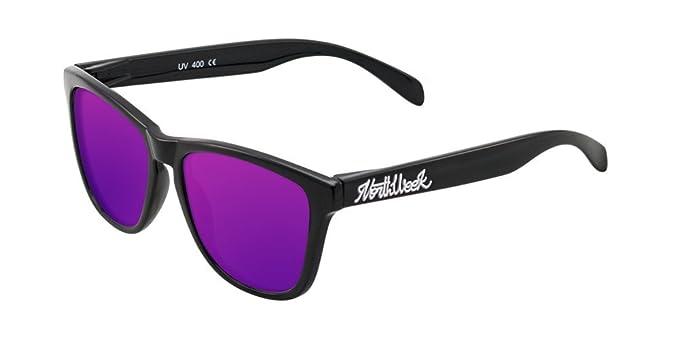 NORTHWEEK Creative Gafas de sol, Shine Black/Purple, 52 Unisex