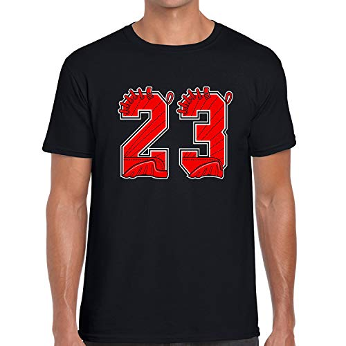 (Model Shoot Designed T Shirt to Matching Air J12 Bulls 23 Black XX-Large)