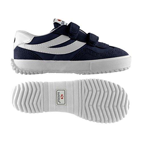 Sneakers Bambini nylvj 2832 white Blue 6qr6wH