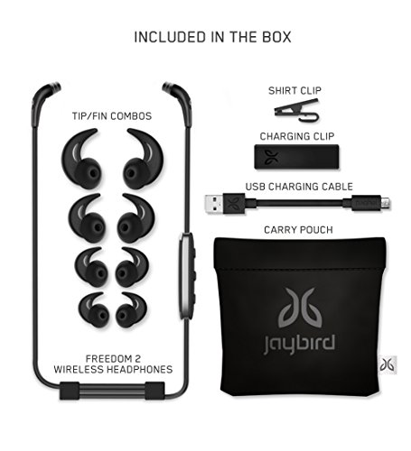 52a8aed5b0b Jaybird FREEDOM 2 In-Ear Wireless Bluetooth Sport Headphones with SpeedFit,  Tough All-Metal Design, Carbon (985-000747): Amazon.ca: Cell Phones & ...