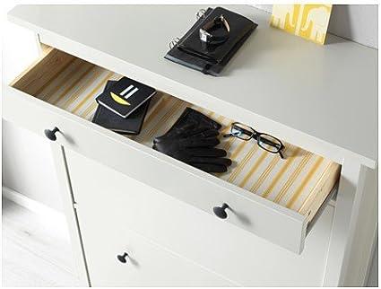 Ikea hemnes Zapatero 2 Compartimento; en Blanco; (89 x 127 cm)