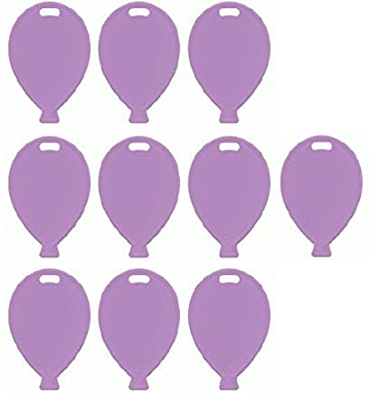 Pastel Light Pink Plastic Balloon Shaped Weights for foil latex helium balloons