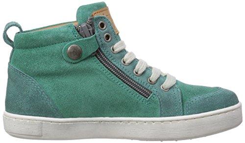Bisgaard Shoe with laces - zapatillas deportivas altas de cuero infantil verde - Grün (34 Forest)