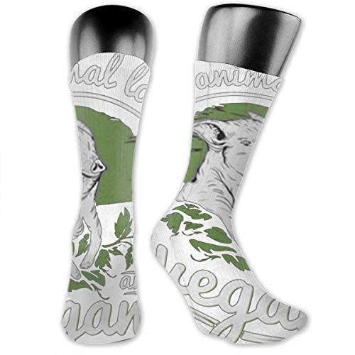 OFFWAYA Funky Dress Socks Real Animal Lover are Vegan Cotton Fun Holiday Socks Winter Warm Cozy Socks for Men Women 1 Pair ()