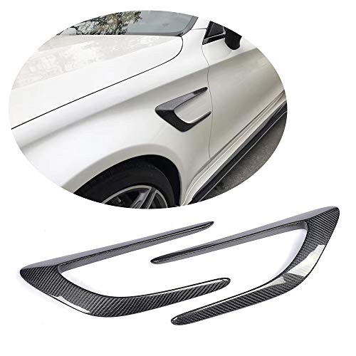 MCARCAR KIT For 2015 2016 2017 Mercedes Benz C-Class W205 C205 C63 AMG Coupe Facelift Carbon Fiber Top Fit Side Fender Vents Air Intake Covers