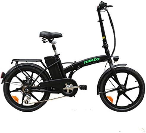 Bicicleta eléctrica plegable, 20 pulgadas plegable bicicleta ...