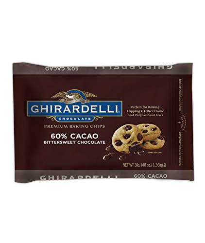 Ghirardelli 60% Cacao Bittersweet Baking Chocolate Chips, 3 Pound (Toll House Double Chocolate Chip Cookie Recipe)