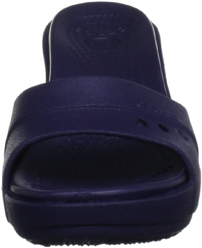 Crocs Kadee Wedge, Damen Pantoletten Blau (Nautical Navy/Nautical Navy)