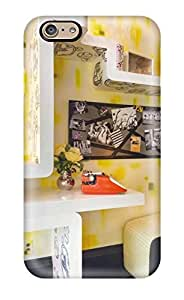 Awesome Design Teens Bedroom With Yellow 038 Geometric Shelves Hard Case Cover For Iphone 6