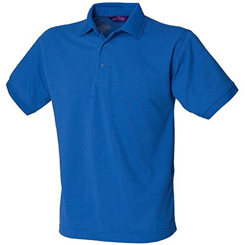 Henbury schwere Pique Polo Shirt H400 Royal Klein