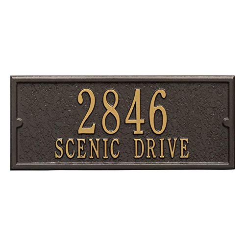 Whitehall Aluminum Personalized Side Plaque (Bronze/Gold) by Whitehall