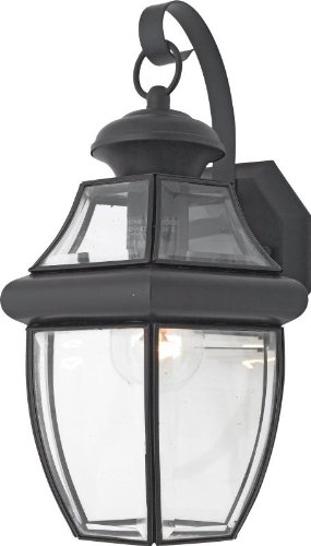 - Quoizel NY8316KFL, Newbury Outdoor Wall Lighting Fluorescent, Black