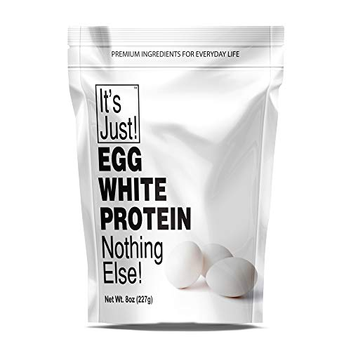 It's Just – Egg White Protein Powder, Dried Eggwhite Meringue Powder, Non-GMO, USA Farms, Unflavored – 8oz