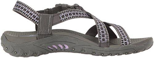 Zehe Sandale Ring Reggae Charcoal Purple Skechers gqO5w81x