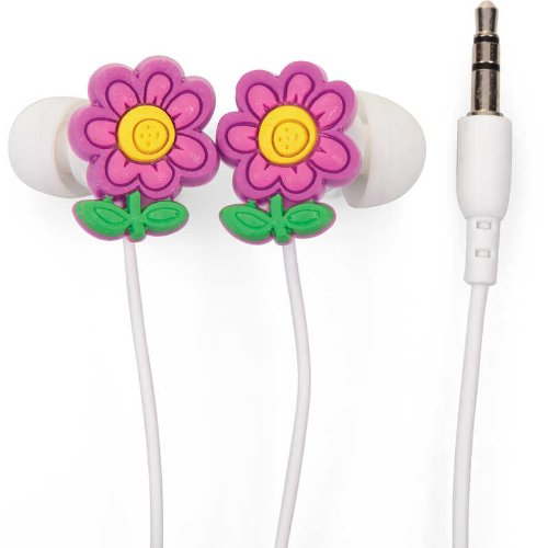 Set Of Noise Isolating Flower Design Earphones Comfy Padded High Quality Audio