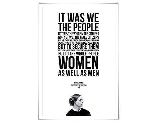 Susan B. Anthony Speech Quote Art Print. 5 Sizes. Women's Rights. American History. Political Protest