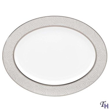 Lenox 845292 Pearl Beads 16 In. Oval Platter