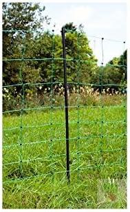 14 Pf/ähle Hundezaun Gartenzaun Schafnetz Schafzaun flexibel Universal Hunde Garten Auslauf Gehege gr/üner mobiler Gartenzaun Elektrozaun Weidezaun 108 cm hoch bis 50m lang Zaun-Netz inkl