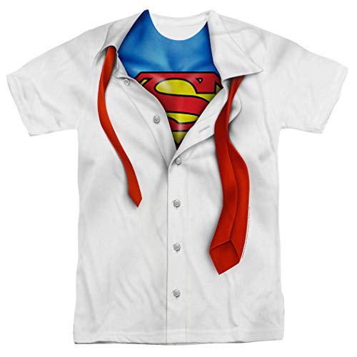 Superman Shirt and Tie DC Comics T Shirt & Exclusive Stickers (XX-Large)