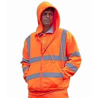 Pro-Tough CPHVHSO Hi Vis - Sudadera con capucha (talla mediana), color naranja: Amazon.es: Amazon.es