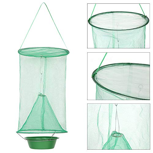 Quaanti The Ultimate Red Drosophila Fly Trap Home Outdoor Device Top Catcher Fly Wasp Insect Trapping Buzz Fly Killer Trap Device (E/24x42CM)