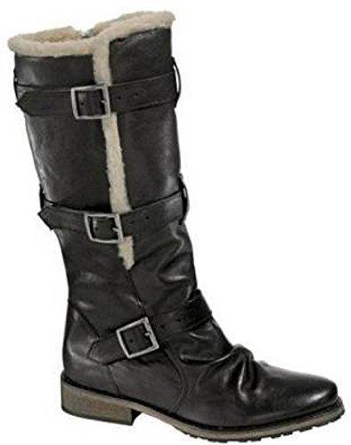 Winterstiefel Stiefel von Chillany aus Leder - Schwarz Schwarz