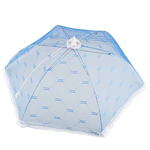 Food Cover Tool - 1 Piece Food Cover Umbrella Style Picnic Anti Fly Mosquito Net Tent Meal Cover Table Mesh Food Cover Kitchen Accessories - RANDOM - Picnic Net With Tent