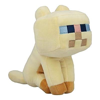"""JINX Minecraft Happy Explorer Persian Cat Plush Stuffed Toy (Tan, 5.5"""" Tall)"""