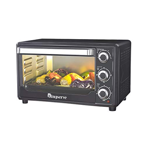 - KingServe Convection Toaster Oven,Modern Best Countertop Bake Oven,Stainless Steel Convection Oven Countertop Large1500-Watt,Kitchen Counter Large Capacity 6 Slice Toaster Oven(Black)