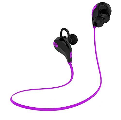 SoundPEATS Wireless Bluetooth Headphones In Ear Sport Earbuds for Gym/Workout - Black&Purple by SoundPEATS