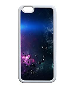 VUTTOO Iphone 6 Case, Space Asteroids Belt Purple Snap-On TPU TPU White Bumper Case for Apple iPhone 6 4.7 Inch