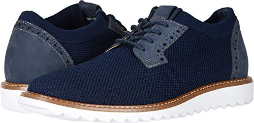 - Dockers Men's Einstein Knit/Leather Smart Series Dress Casual Oxford with NeverWet Navy Knit/Nubuck 9 D US