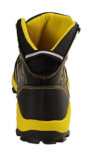 Bazalt-mbm9123st-mannen Zwart-geel Water En Vorstbestendig Leren Laarzen W / Composiet Neus-blk / Geel Blk / Geel