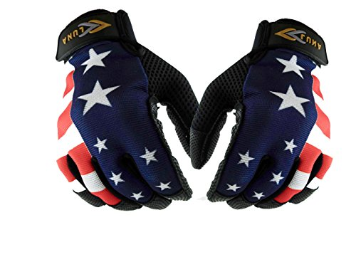 LÜNA Baseball and Softball Batting Gloves | American Flag Style | Durable Quality Baseball Gear | Genuine Leather | Unisex Adult – Sports Center Store