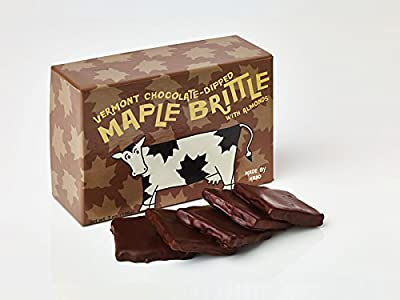 Chocolate-Dipped Vermont Maple Brittle With Almonds
