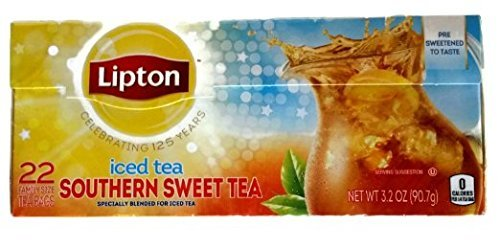 Lipton Southern Sweet Iced Tea Bags 22 Count Family Size (Pack of 2) (Lipton Sweet Tea Bags)