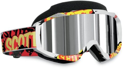 Scott Hustle Men's Snocross Snowmobile Goggles Eyewear - Banter/Chrome / One Size